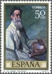 Stamps Spain -  DIA DEL SELLO .IGNACIO DE ZULOAGA