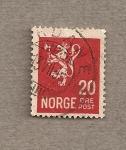 Stamps Norway -  Escudo con león y hacha