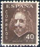 Sellos de Europa - España -  ESPAÑA 1945 989 Sello Nuevo III Centenario de la muerte de Francisco de Quevedo Retrato 40c