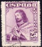 Stamps Spain -  ESPAÑA 1948 1033 Sello Personajes Fernando III El Santo 25c Usado Espana Spain Espagne Spagna Spanje