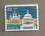 Sellos de America - Estados Unidos -  Aniv. fundación Suiza