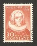 Sellos de Europa - Groenlandia -  II centº de la muerte de hans egede