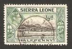 Stamps Africa - Sierra Leone -  george VI, puerto de freetown