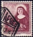 Stamps Spain -  España 1952 1116 Sello º XXXV Congreso Eucarístico Internacional Barcelona Sta. Micaela