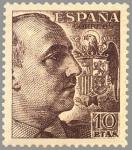 Sellos de Europa - España -  ESPAÑA 1949 1059 Sello Nuevo General Franco 10p Espana Spain Espagne Spagna Spanje Spanien