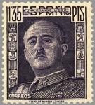 Sellos de Europa - España -  ESPAÑA 1949 1061 Sello Nuevo General Franco 1,35p Espana Spain Espagne Spagna Spanje Spanien