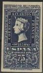Stamps Spain -  ESPAÑA 1950 1076 Sello Nuevo Centenario Sello Español Isabel 75c Espana Spain Espagne Spagna Spanje