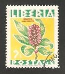 Stamps : Africa : Liberia :  flor, gomphia subcordata