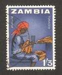 Sellos del Mundo : Africa : Zambia :  trabajando el tabaco
