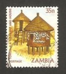 Stamps Africa - Zambia -  vivienda nativa
