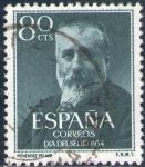 Stamps Spain -  ESPAÑA 1954 1142 Sello Marcelino Menendez y Pelayo Usado Espana Spain Espagne Spagna Spanje Spanien