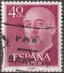 Sellos de Europa - España -  ESPAÑA 1955 1148 Sello General Franco 40cts Usado Espana Spain Espagne Spagna Spanje Spanien