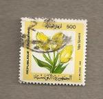 Stamps Tunisia -  Planta Tulipa sylvestris