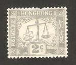 Sellos de Asia - Hong Kong -  sello tasa, balanza