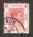 Stamps : Asia : Hong_Kong :  george VI
