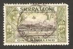 Stamps Africa - Sierra Leone -  george VI, vista del puerto de freetown