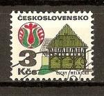 Stamps Czechoslovakia -  Arquitectura Popular