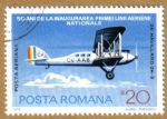 Stamps Europe - Romania -  De Havilland DH-9