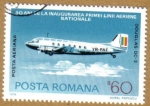 Stamps Europe - Romania -  DOUGLAS DC-3