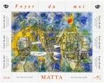 "Stamps : America : Chile :  ""Foyer Du Moi"" pintura de Roberto Matta"