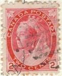 Stamps Canada -  CANADA 1897-98 Reina Victoria 2c