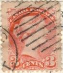 Stamps America - Canada -  CANADA 1888 Reina Victoria I 3c 3