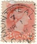 Stamps America - Canada -  CANADA 1888 Reina Victoria I 3c 2