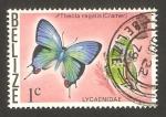 Stamps America - Belize -  mariposa thecla regalis (cramer)