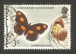 Sellos del Mundo : America : Belice : mariposa catonephele numilia (cramer)