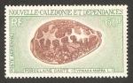 Sellos del Mundo : Oceania : Nueva_Caledonia : caracola de mar,  cypraea mappa