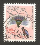 Stamps Oceania - Papua New Guinea -  fauna, pájaro azul