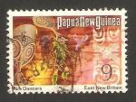 Stamps Oceania - Papua New Guinea -  la danza del fuergo