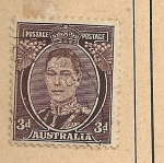 Stamps Oceania - Australia -  Jorge VI