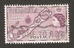 Stamps America - Bermuda -  elizabethh II, mapa de la isla