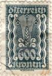 Stamps Austria -  AUSTRIA 1922-24 (M388) Freimarken 600kr