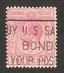 Stamps : America : Bahamas :  george V