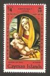 Stamps : Europe : United_Kingdom :  islas caimán - navidad, la virgen y el niño, de alvise vivarini