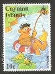Stamps of the world : United Kingdom :  Islas Caimán - Barrio Sésamo, programa infantil