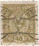 Sellos de Europa - Austria -  AUSTRIA 1916 (m184) Escudo 40h