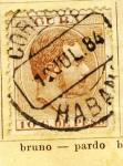 Sellos del Mundo : America : Cuba : Alfonso XII Ed 1884