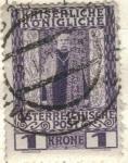 Sellos de Europa - Austria -  AUSTRIA 1908 (m139v) Franz Joseph im Kronungsornat 1kr