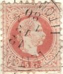 Stamps Austria -  AUSTRIA 1867 (M37) Kaiser Franz Joseph - tipo I 5kr 2
