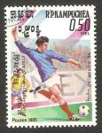 Stamps : Asia : Cambodia :  kampuchea - mundial de fútbol México 86