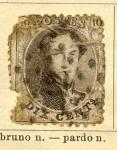 Sellos de Europa - Bélgica -  Leopoldo I Ed 1863