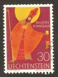 Sellos del Mundo : Europa : Liechtenstein : san nicolas, patrono de la iglesia de balzers