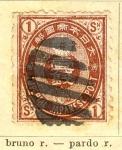Sellos del Mundo : Asia : Japón : Imperial Ed 1888