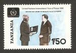 Stamps : Africa : Tanzania :  año internacional de la paz