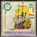 Sellos de Africa - Guinea Ecuatorial -  Guinea Ecuatorial 1976 75167 Sello Barco Navio de Guerra Holandes 1654 0,65pts