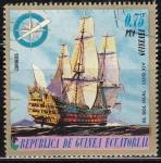 Sellos de Africa - Guinea Ecuatorial -  Guinea Ecuatorial 1976 75169 Sello Barco El Sol Real Luis XIV 0,75pts Matasello favor Preobliterado