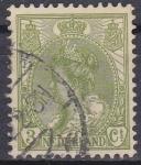 Sellos del Mundo : Europa : Holanda : Holanda 1898-1924 Scott 062 Sello Reina Wihelmina usado 3c Netherland